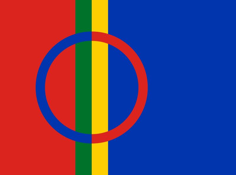 source de l'image : http://fr.wikipedia.org/wiki/Fichier:Sami_flag.svg
