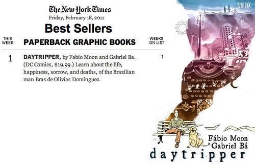 Daytripper #1 on NYT best seller list