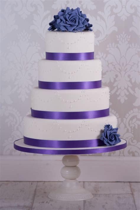 Purple Rose Wedding Cake   CakeCentral.com
