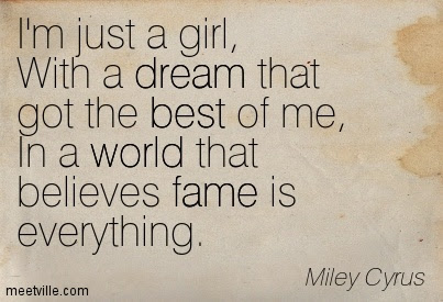 Im Just A Girl With A Dream That Got The Best Of Me In A World