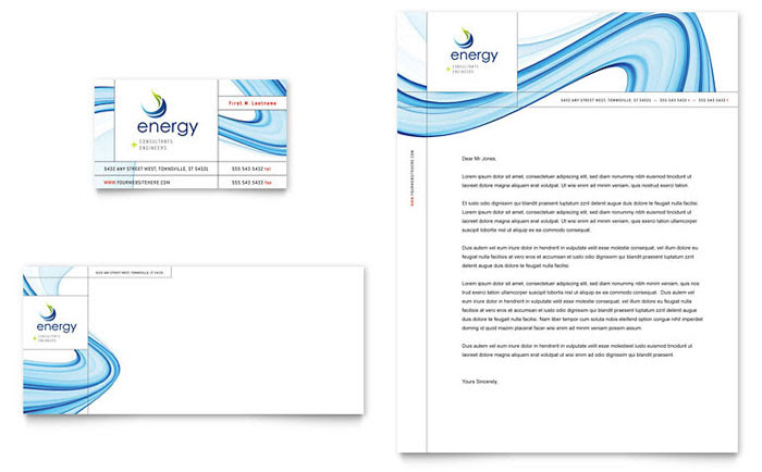 Energy & Environment Letterheads   Templates & Designs