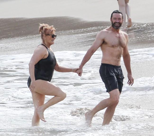 Resultado de imagem para esposa de  Hugh Jackman.