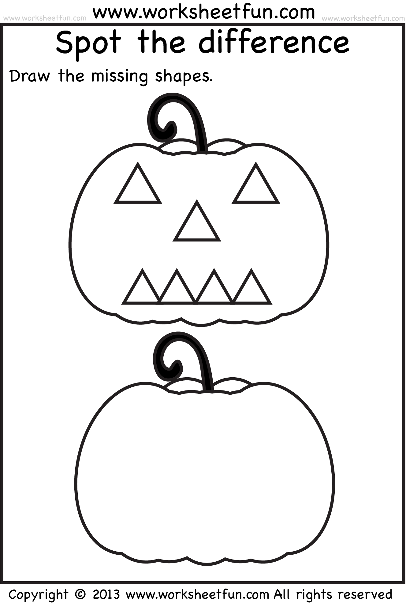 Spot The Difference – 1 Worksheet FREE Printable