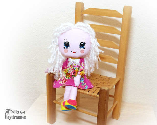small tiny rag cloth doll Baby safe easy jointed kawaii cute artdoll 3 copy face 2