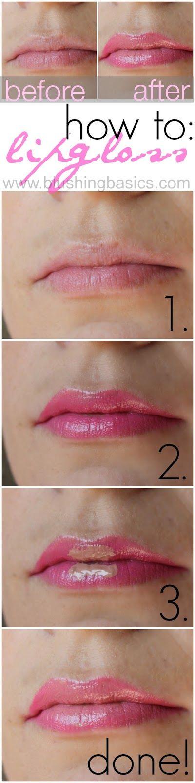 #blushingbasics // how to apply lipgloss  #beautyinspiration #sofabcon14