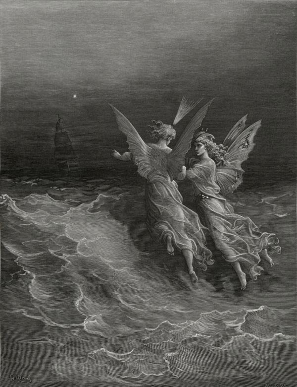 Without Wave or Wind - from The Rime of the Ancient Mariner - by Gustave Dore (Bellenger, engraver)