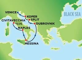 7-Day Classic Mediterranean, Venice to Rome (Civitavecchia)