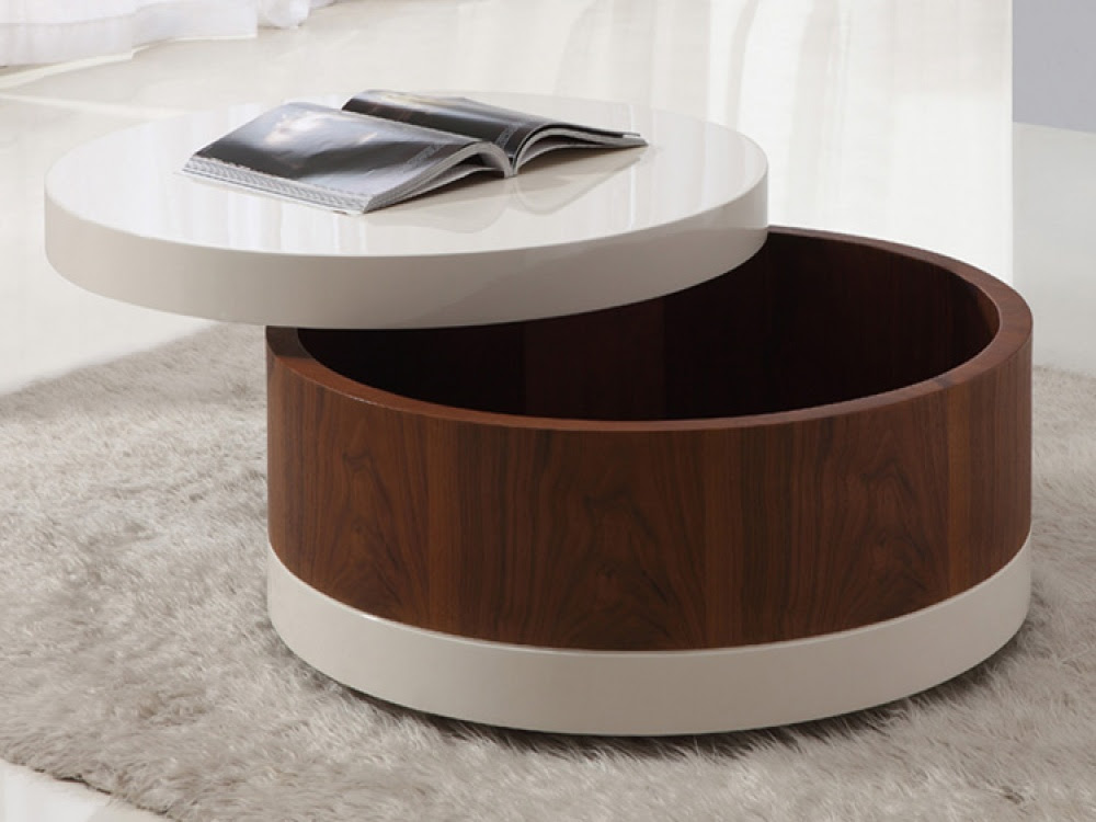 The Round Coffee Tables with Storage - the Simple and Compact Furniture that Looks Adorable ...