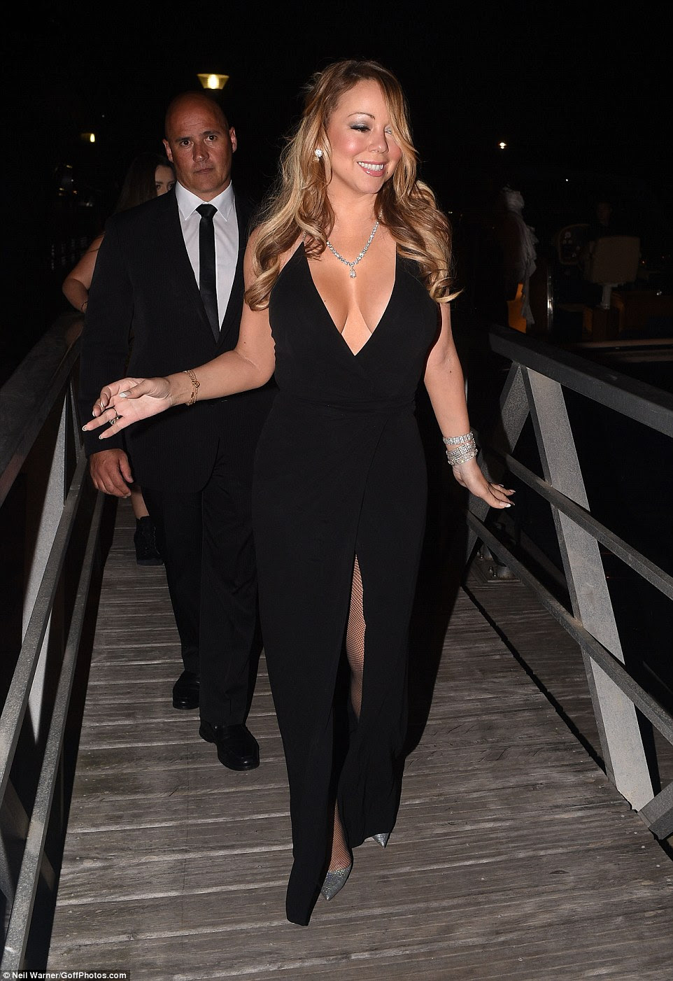 Here comes the superstar:Mariah Carey wasn't about to let the gaggle of supermodels attending Leonardo DiCaprio's glitzy St Tropez fundraiser on Wednesday night upstage her
