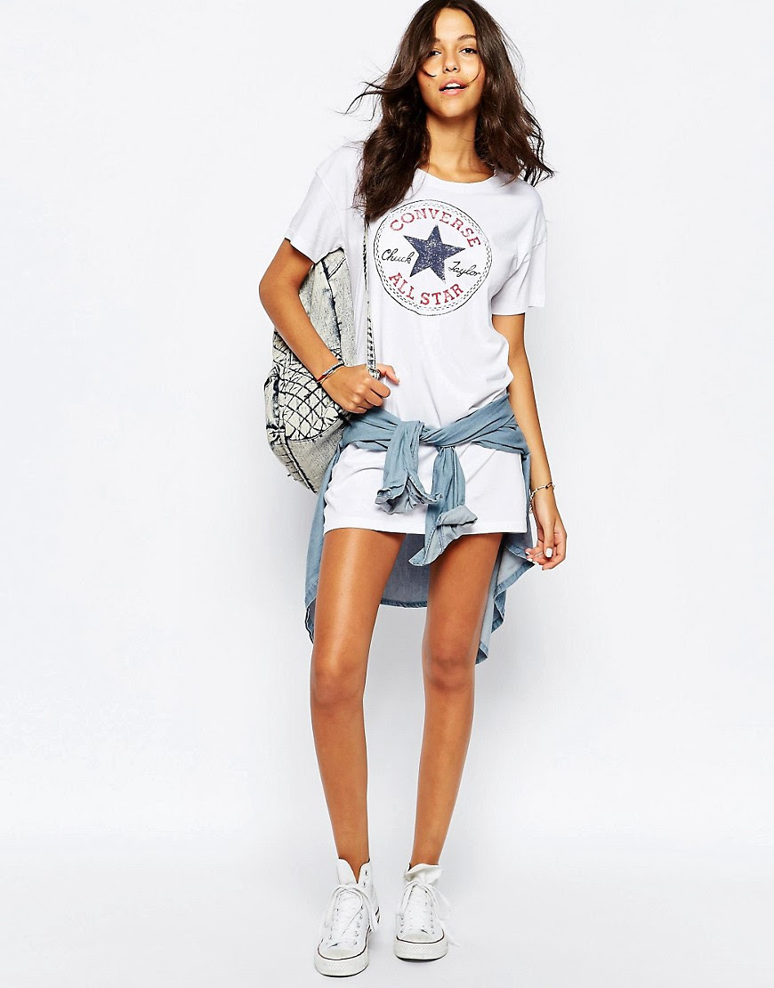 Image 4 of Converse T-Shirt Dress With Large Front Logo