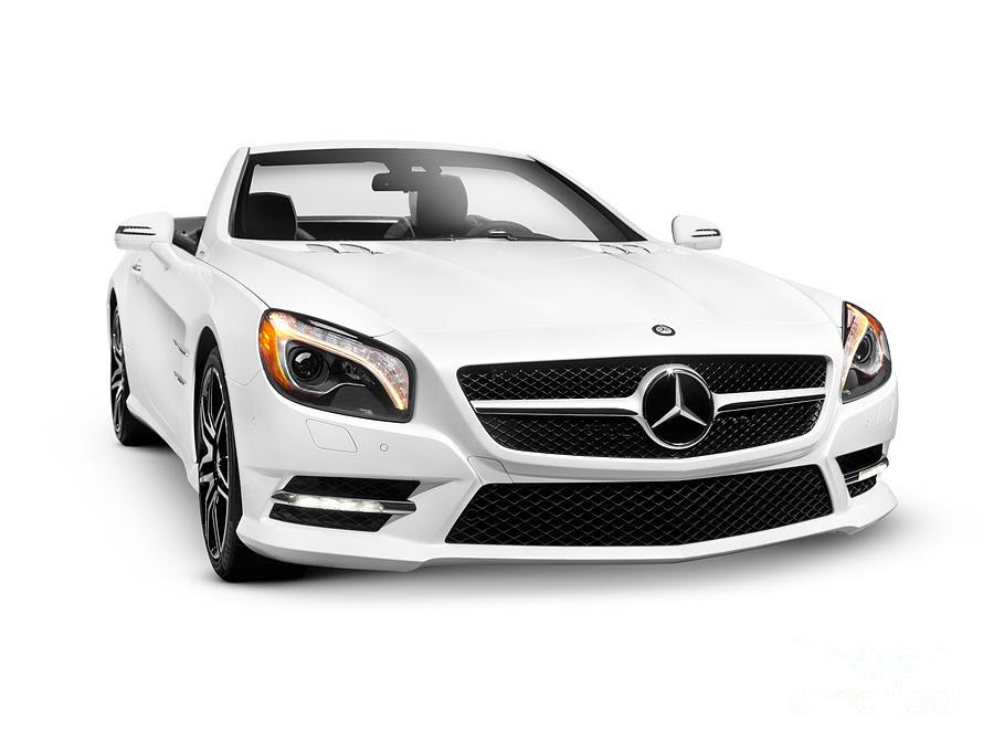 White Mercedes-benz Sl550 Roadster Convertible Luxury Car ...