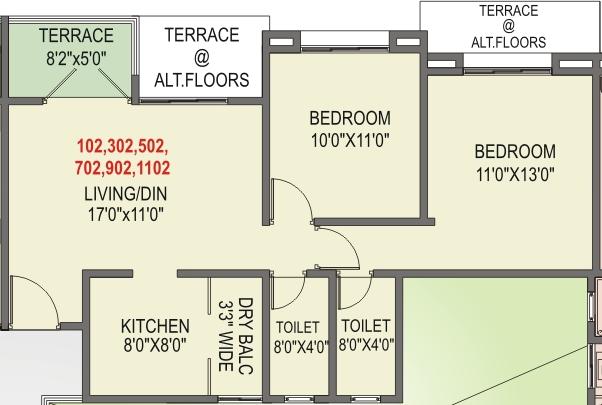 Elite Homes Tathawade Wakad Pune, 2 BHK Flat on Odd Floor