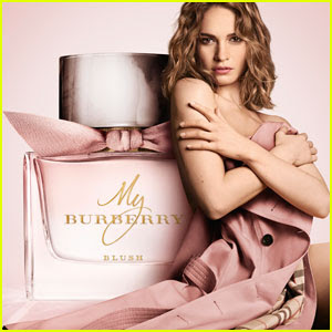 Lily James Stars in Burberry's My Burberry Blush Campaign!