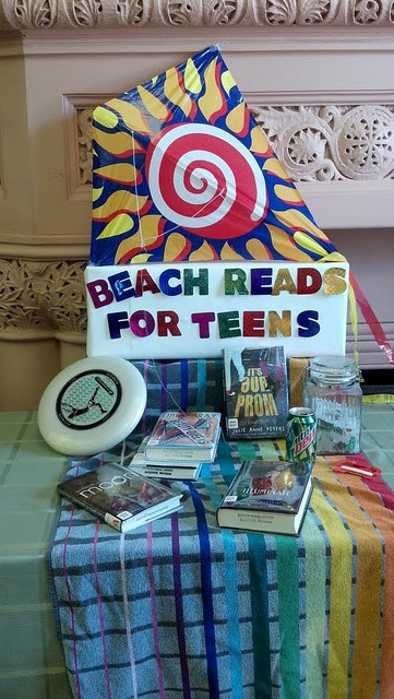 Beach Reads by Hackley Public Library, via Flickr, and a ton of other pics of book displays