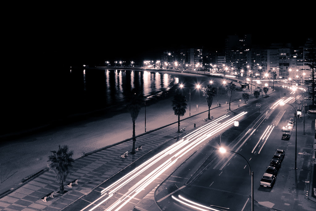 Montevideo - Rambla by night