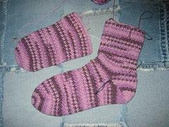 Regia Cotton Surf Crochet Socks WIP