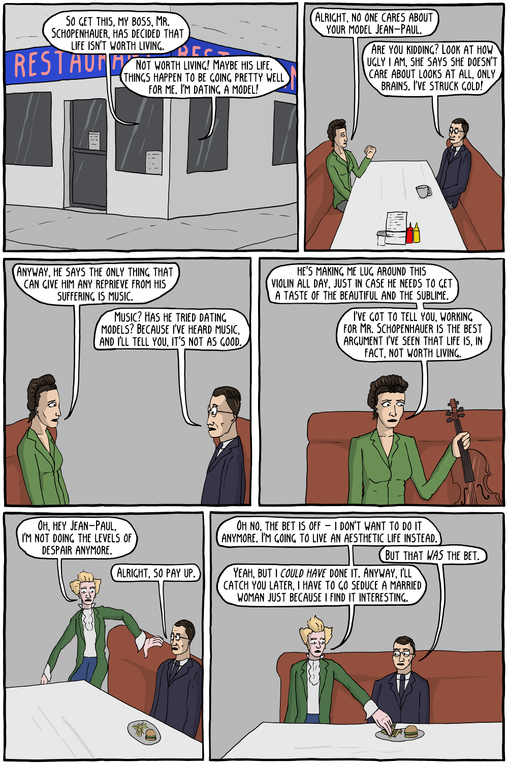 Sartre A Show About Nothingness 2 Existential Comics