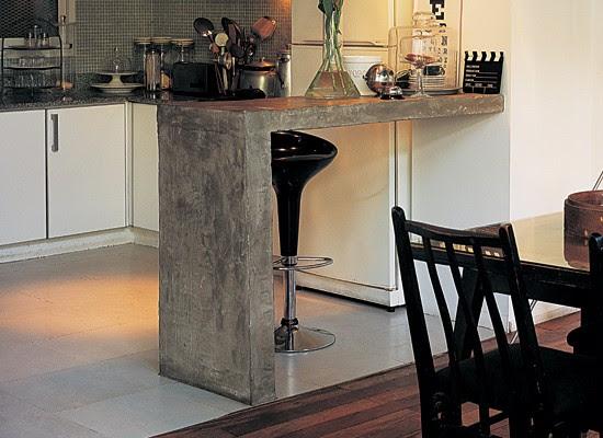 10 estilos de cocina con cemento alisado blog y arquitectura for Barras de cocina de concreto