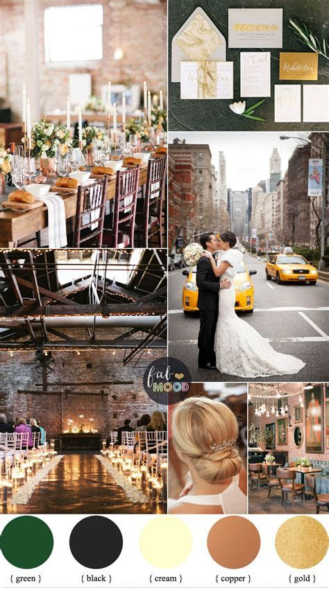 Urban Chic Winter Wedding Inspiration { Black   Cream