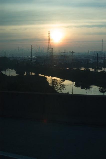 sunrise over Newark