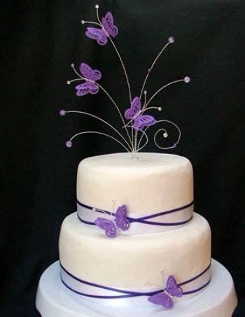butterfly cake toppers for wedding cakes   Purple