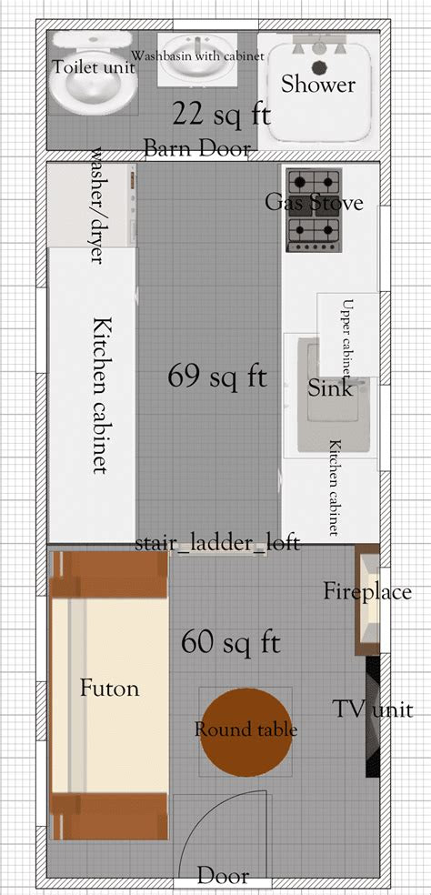 tiny house floor plans    tiny house plan