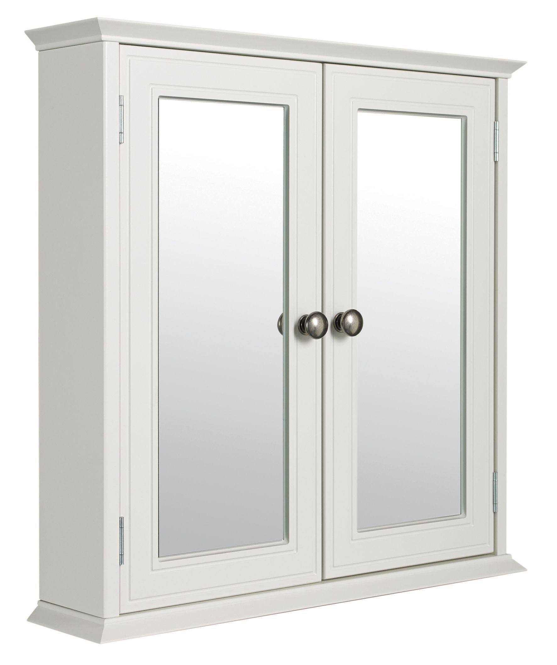 Cooke & Lewis Romano Double Door White Mirror Cabinet ...