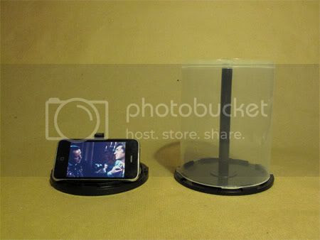 CD Spindle iPhone Stand