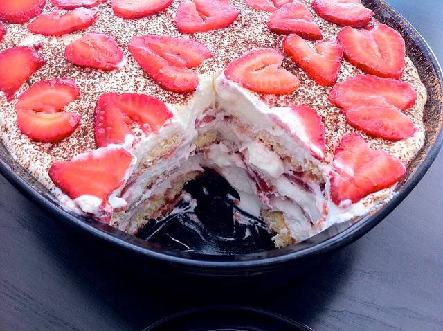 Strawberry Tiramisu Closeup