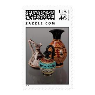 Greek Vases 3 Postage Stamps stamp