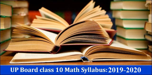 UP Board Class 10 Maths Syllabus 2019-2020