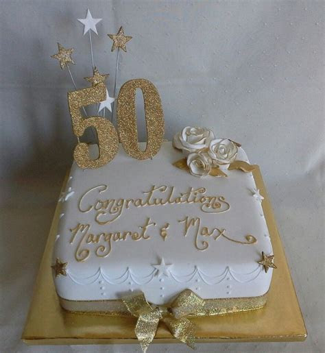 Gold roses bling 50th wedding anniversary cake created by