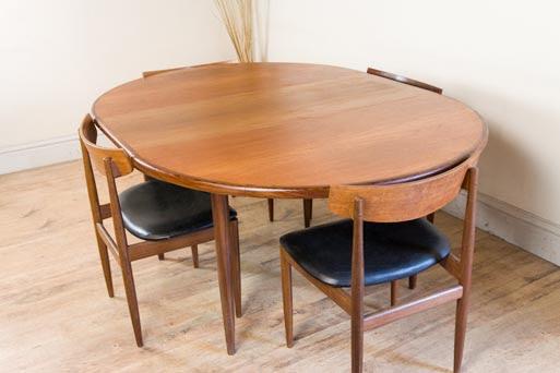 Vintage Retro G Plan Dining Table and 4 IB Kofod Larsen Chairs  Teak Danish  eBay