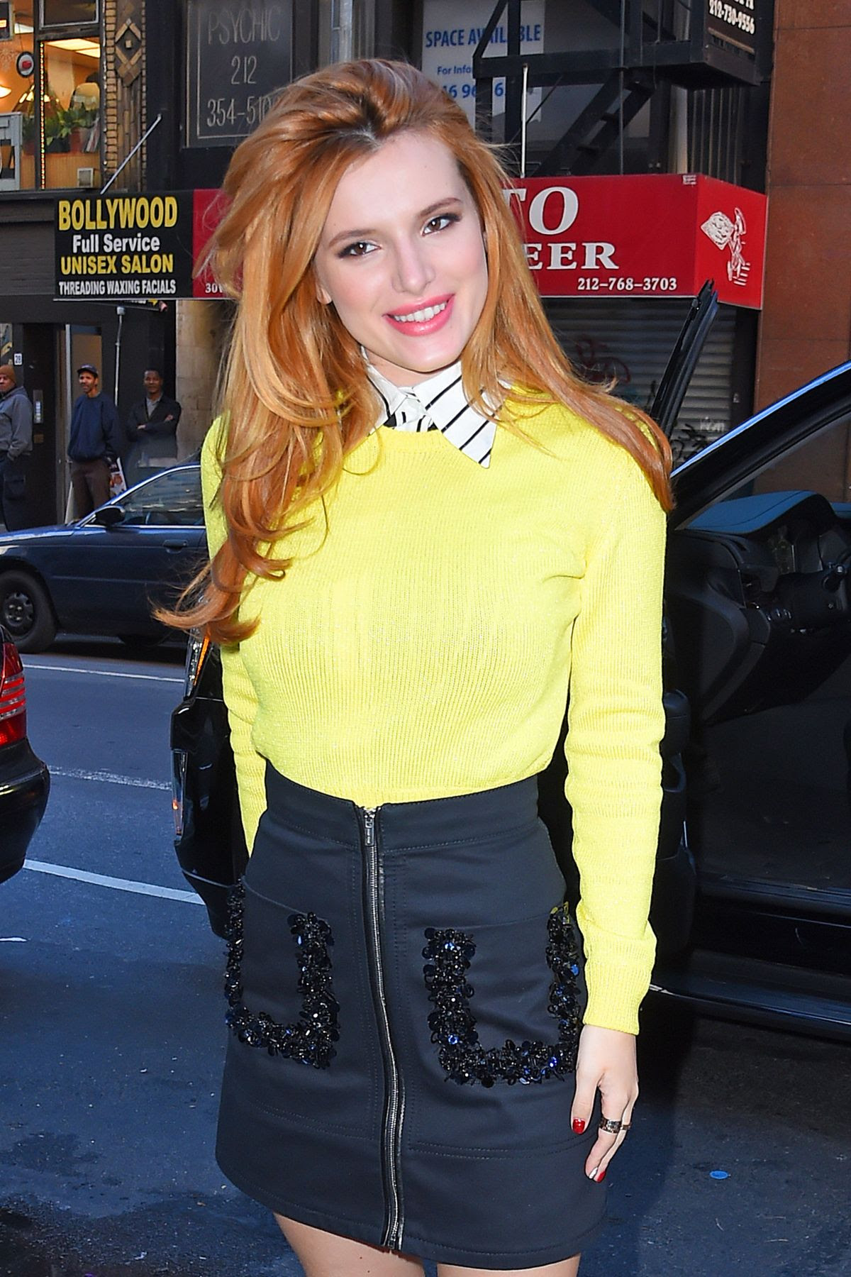BELLA THORNE Arrives at Today Show in New York 12/16/2015