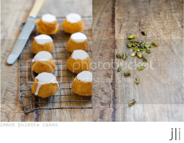 little lemon polenta cakes