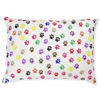Colorful Dog PAWSitive Prints Large Dog Bed