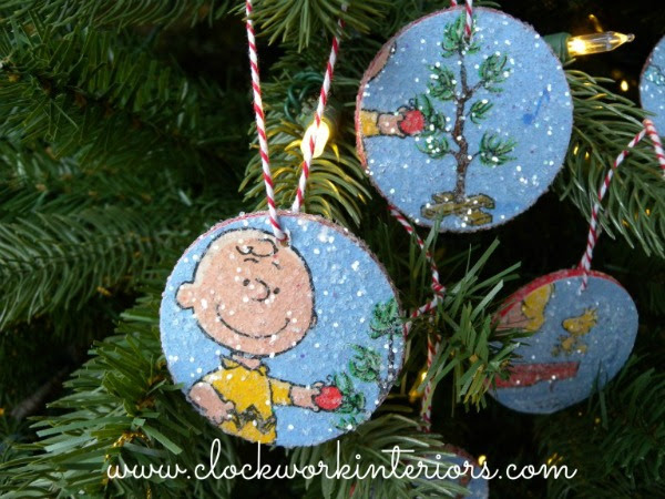 Peanuts Charlie Brown Ornaments featured at the Vintage Inspiration Party at MySalvagedTreasures.com