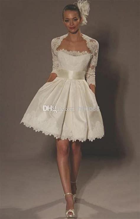 Strapless Satin Mini Ball Gown Short Litter Ivory Wedding