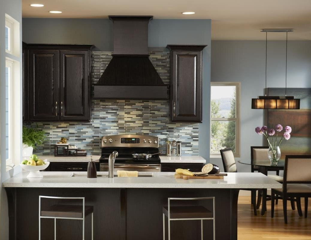 Kitchen Wall Colors with Dark Cabinets - Home Furniture Design