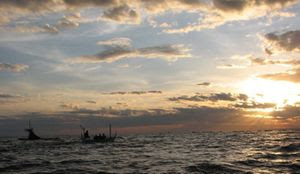 is a coastal expanse on the northwestern side of the isle of  Bali Beaches; Lovina Beach inward Bali
