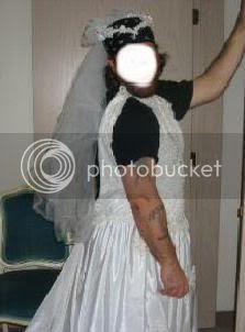 Larry Star modeling wedding dress