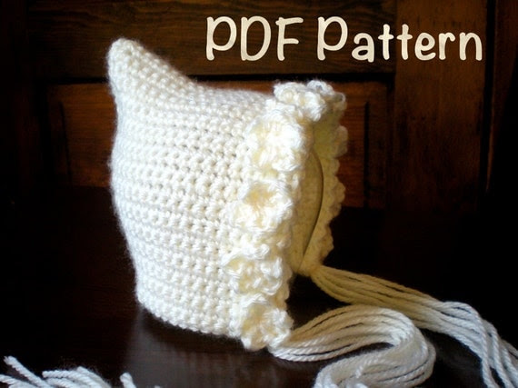 PATTERN:  Violet Pixie Bonnet, newborn baby gnome flower hat, easy crochet PDF, photo photography prop, Permission to Sell