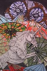 Unicorn amongst umbrellas III detail