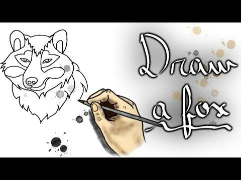 كيفية رسم ثعلب بطريقة سهلة