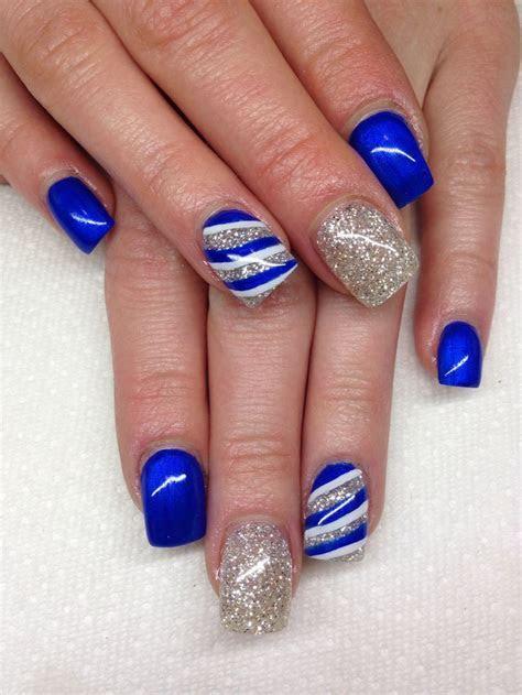 43  Royal Blue Acrylic Nail Designs   StylePics
