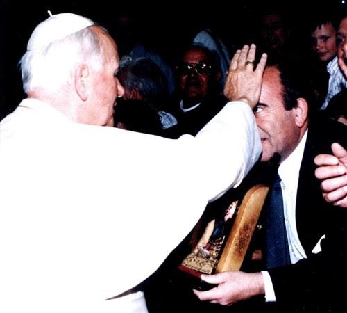 giorgio y Juan Pablo II 13 mayo 1992