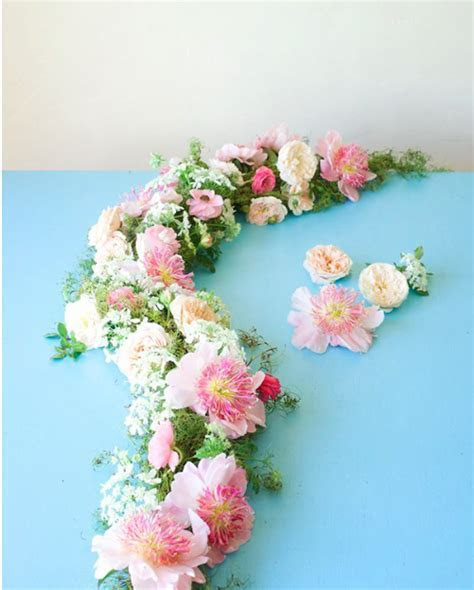 Perfect Peony and Roses Table Garland   AllFreeDIYWeddings.com