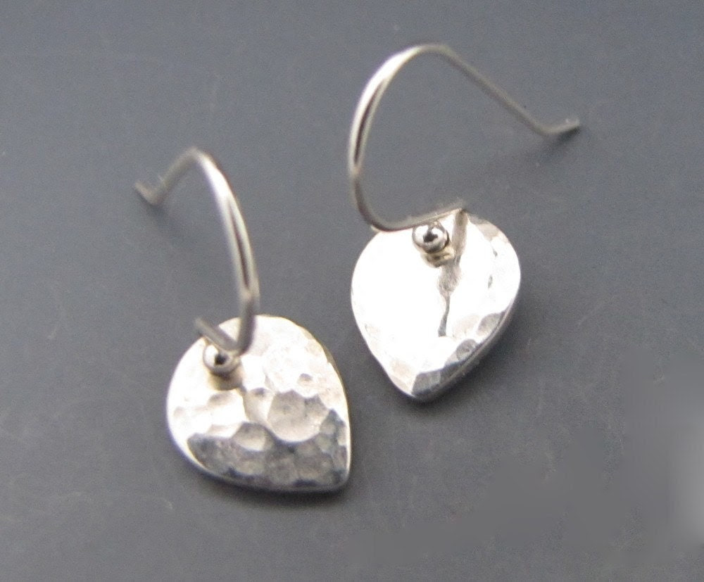 Tiny Hammered Lotus Earrings