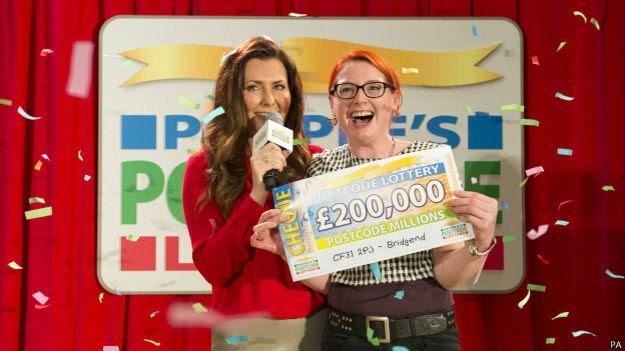 Ganadora de la lotería