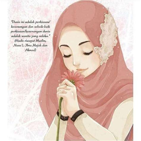 koleksi gambar foto animasi muslimah bercadar terbaru